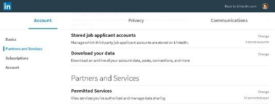 download LinkedIn data
