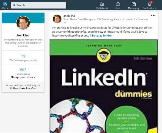 live update LinkedIn