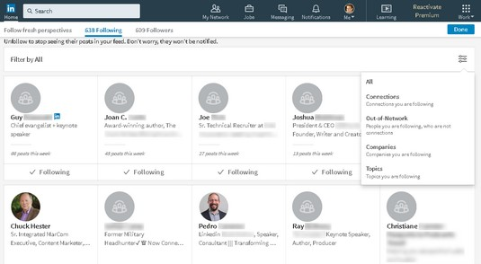 LinkedIn news sources