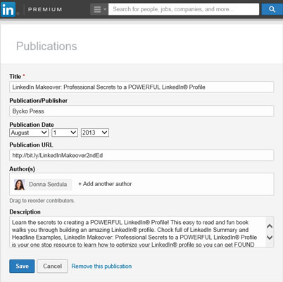 how to download linkedin publications