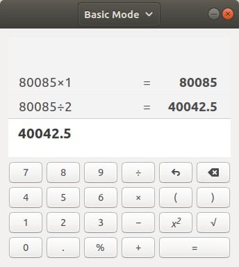 Linux KDE Calculator