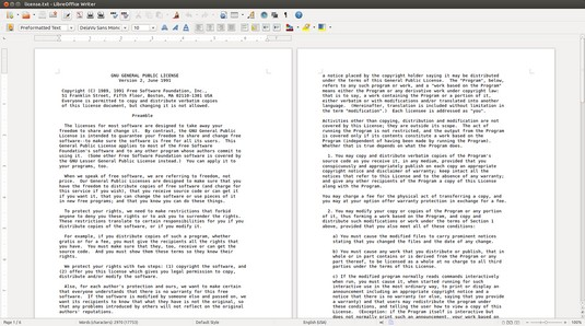 LibreOffice Writer Linux