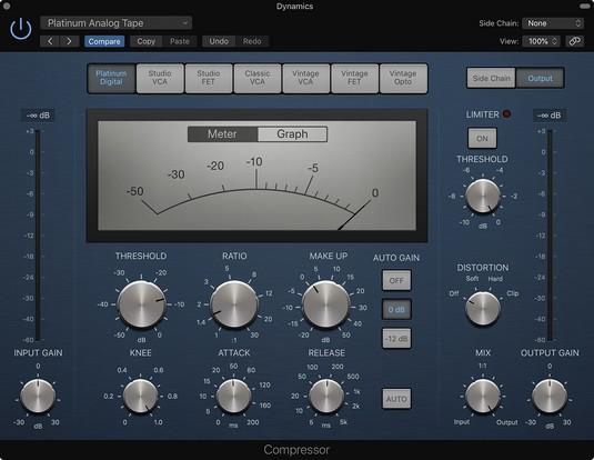 Logic Pro X Compressor plug-in