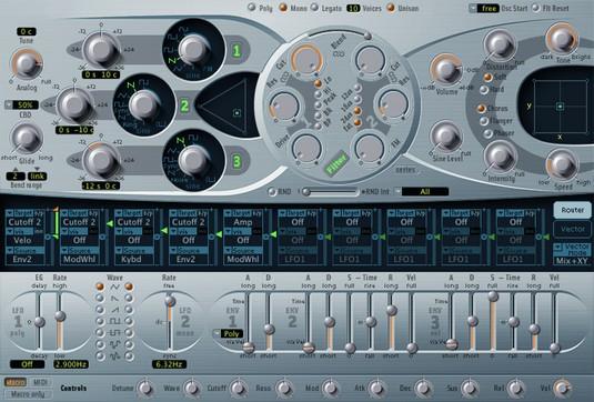 Logic Pro X ES2 hybrid synth