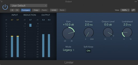 Logic Pro X Plug-Ins: Compressor, Limiter and Other Dynamic
