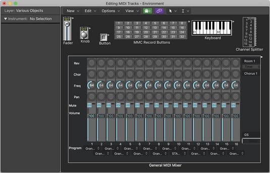 Logic Pro X MIDI environment