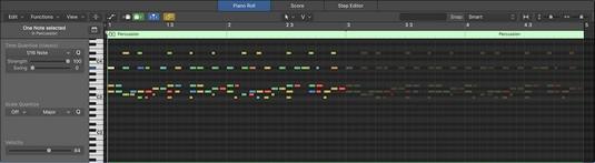 Logic Pro X piano roll editor