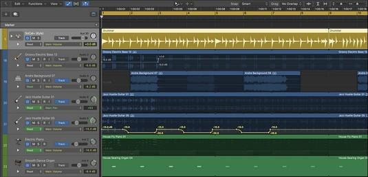 Logic Pro track automation