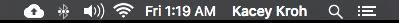 Mac notifications tray
