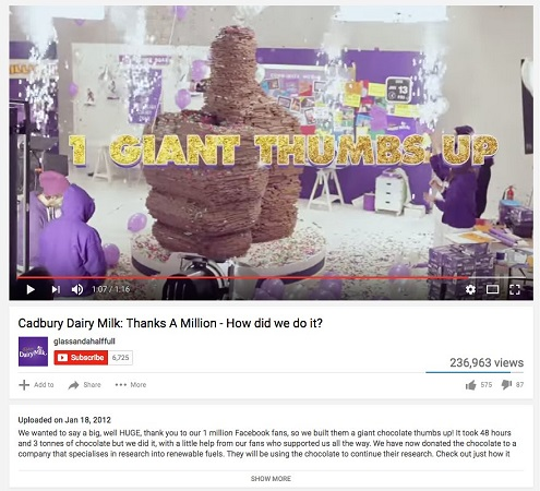Cadbury thanks fans marketing campaign