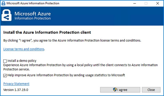 Azure Information Protection installation