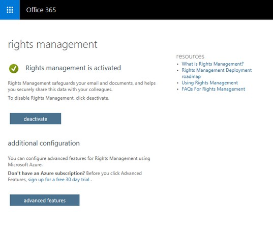 Azure Infromation Protection Rights Management