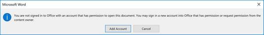 Azure Information Protection blocked user