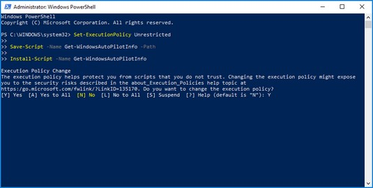 Get-WindowsAutoPilot script