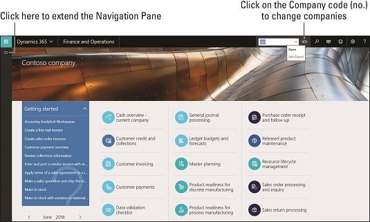 extend D365O navigation