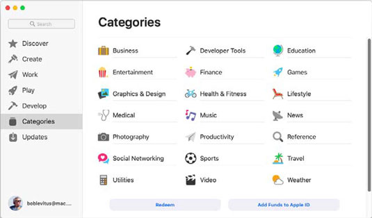 mojave-categories