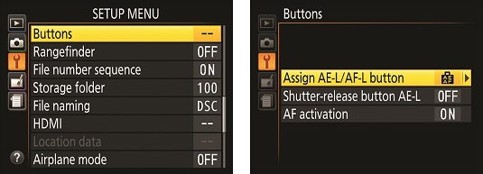 AE-L/AF-L Nikon D3500