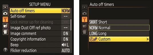 auto shutdown timing Nikon D3500
