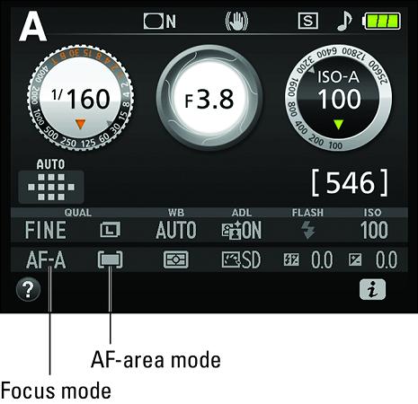 Nikon D3500 focus modes