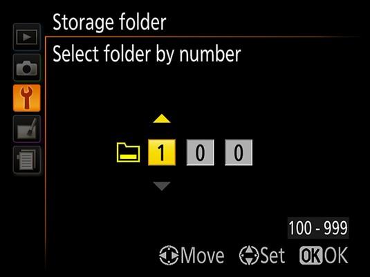 Nikon D3500 folder icon