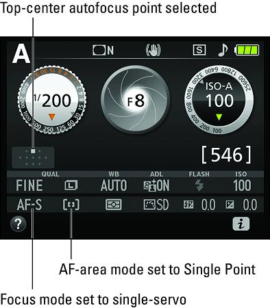 autofocus settings for stationary subjects Nikon D3500