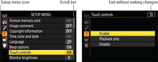 nikon-touchscreen-enable