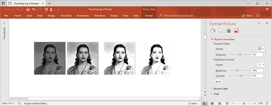 Brightness and Contrast settings Office 2019