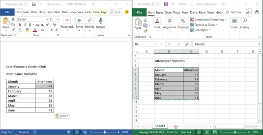 copying in Office 2019