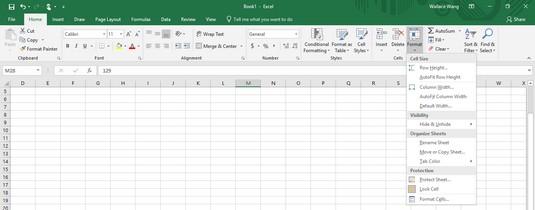 Format icon Excel 2019