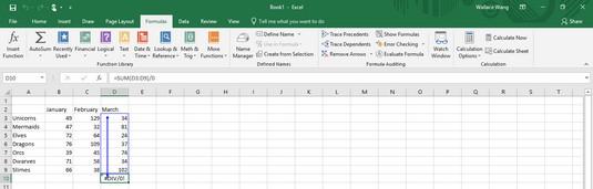 locate Excel errors