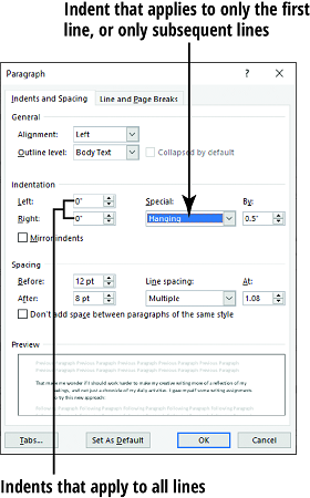 How to Align and Indent Paragraphs in Word 2019 - dummies