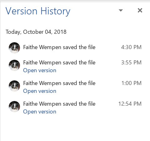 Version history Office 2019