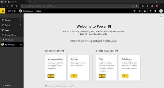 local data Power BI Office 365