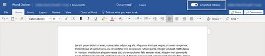 Office Online ribbon