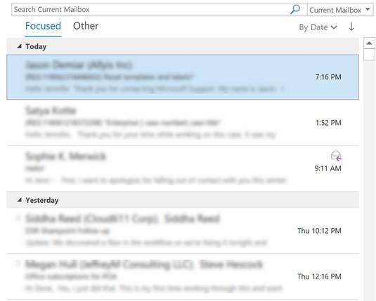 Outlook's Focused Inbox