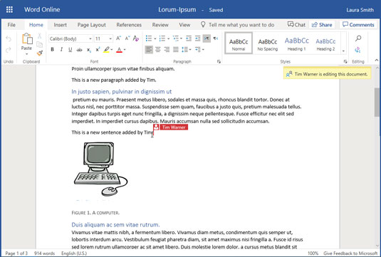 Co-editing in SharePoint Online