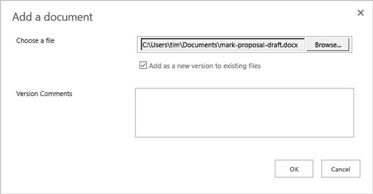 uploading to document library