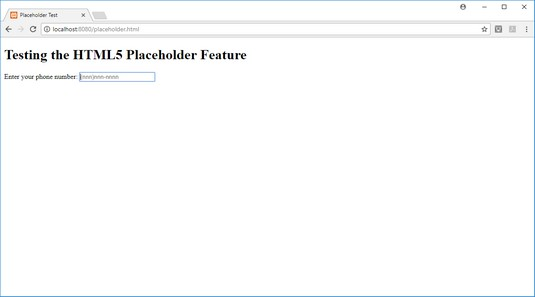 placeholder HTML5 attribute