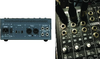 1) What jacks should I use to connect the mixer to my sound system