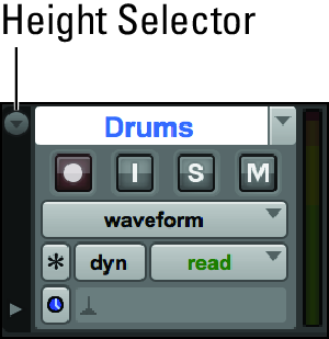 change Pro Tools track height