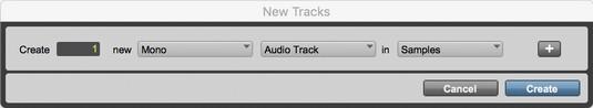 create new Pro Tools track