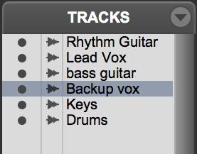 move Pro Tools tracks