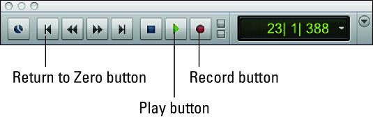 Pro Tools recording controls