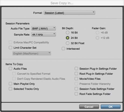 save session copy Pro Tools
