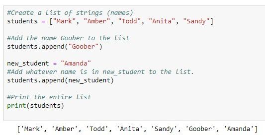 Python append list