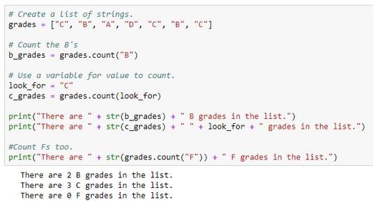 count Python list items