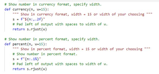 Python formatting function fixed width