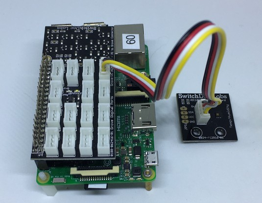 HDC1080 hooked to Raspberry Pi