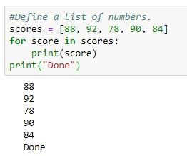 Looping through a Python list