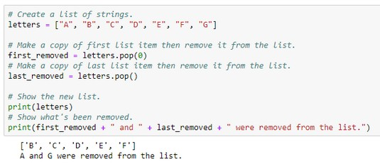 remove items from Python list